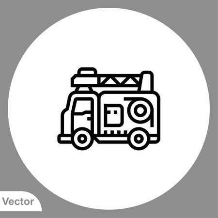 Fire truck icon sign vector, Symbol, illustration for web and mobile Stock Illustratie