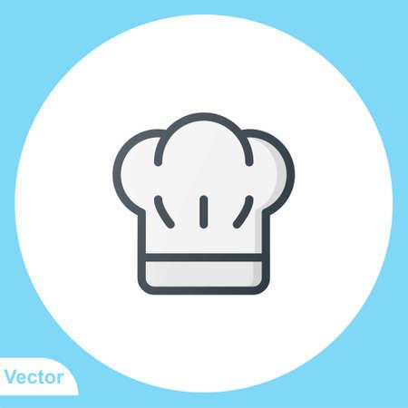 Chef hat vector icon sign symbol