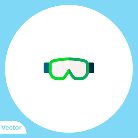 Safety glasses vector icon sign symbol