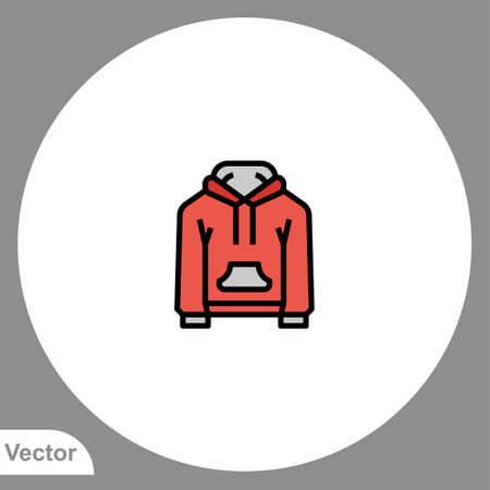 Hoodie icon sign vector, Symbol, illustration for web and mobile