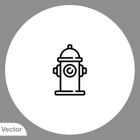 Fire hydrant icon sign vector, Symbol, illustration for web and mobile