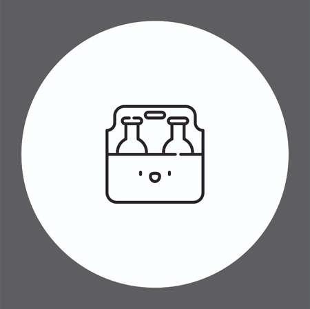 Beer vector icon sign symbol Ilustracja