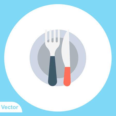 Cutlery vector icon sign symbol