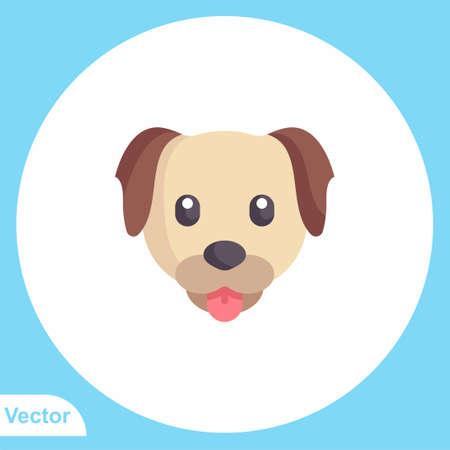Dog vector icon sign symbol