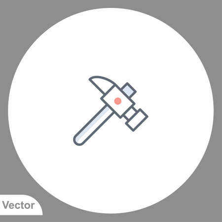 Hammer vector icon sign symbol