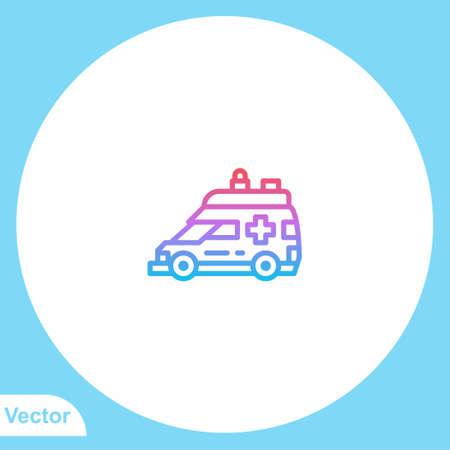 Ambulance vector icon sign symbol