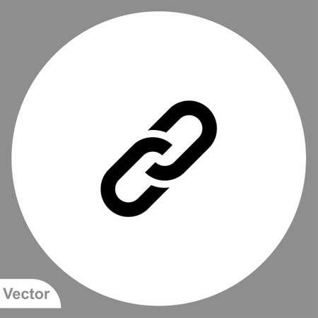 Link vector icon sign symbol