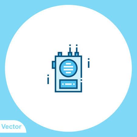 Walkie talkie vector icon sign symbol