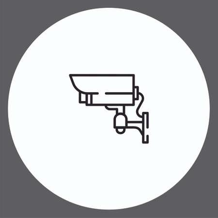 Security camera vector icon sign symbol Stock Illustratie