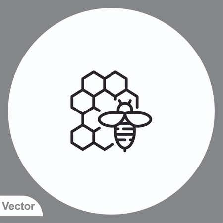 Honey vector icon sign symbol Ilustração
