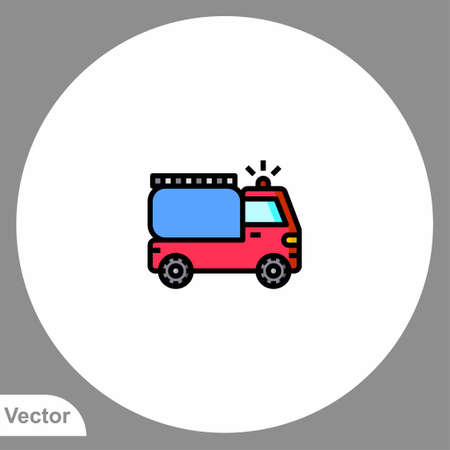 Fire truck icon sign vector, Symbol, illustration for web and mobile Ilustracja