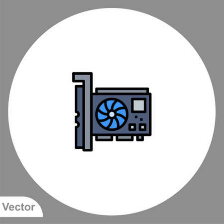 Graphic card icon sign vector, Symbol, illustration for web and mobile Illustration