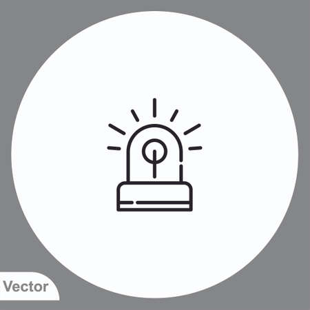 Siren vector icon sign symbol