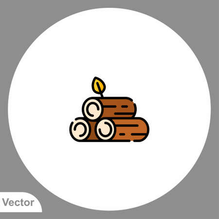 Wood log icon sign vector, Symbol, illustration for web and mobile