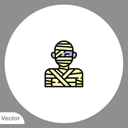 Mummy icon sign vector, Symbol, illustration for web and mobile