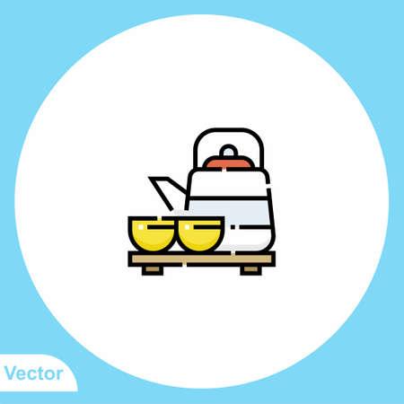 Kettle flat vector icon sign symbol Ilustracja