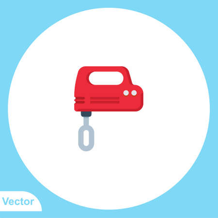 Kitchen mixer vector icon sign symbol