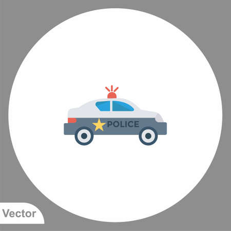 Police car icon sign vector, Symbol, illustration for web and mobile