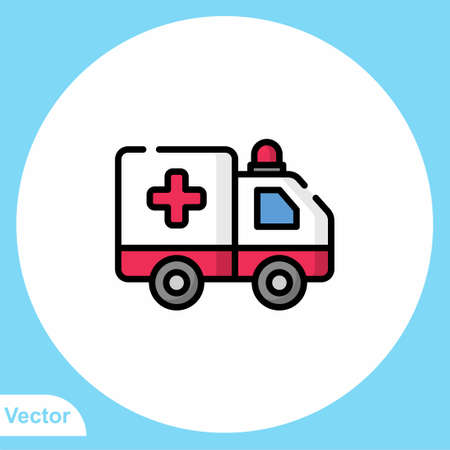 Ambulance vector icon sign symbol