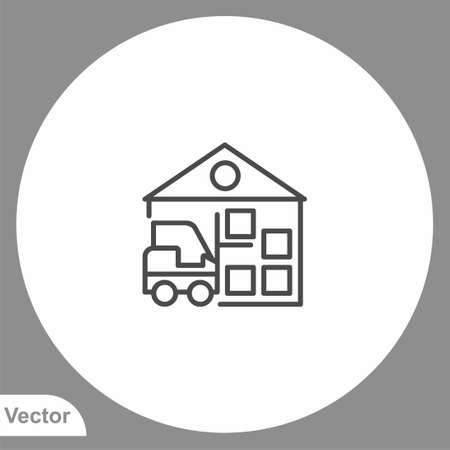 Warehouse icon sign vector, Symbol  illustration for web and mobile Çizim