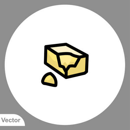 Butter icon sign vector, Symbol illustration for web and mobile
