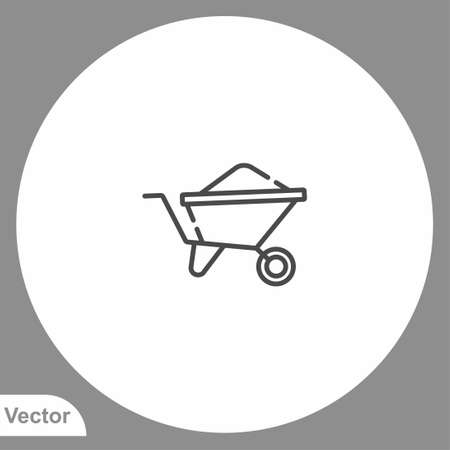 Wheelbarrow icon sign vector, Symbol  illustration for web and mobile