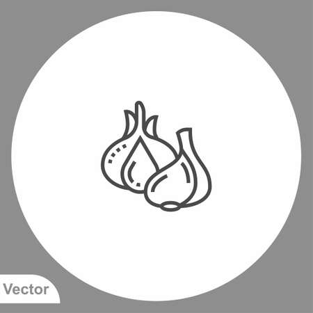 Garlic icon sign vector, Symbol illustration for web and mobile