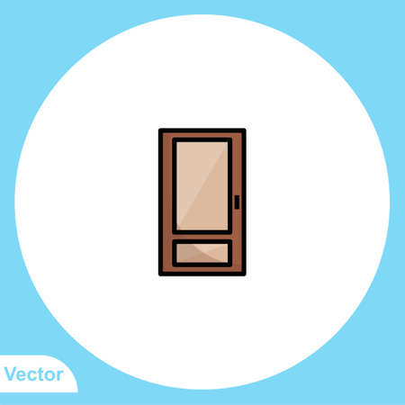 Door vector icon sign symbol Stock Illustratie