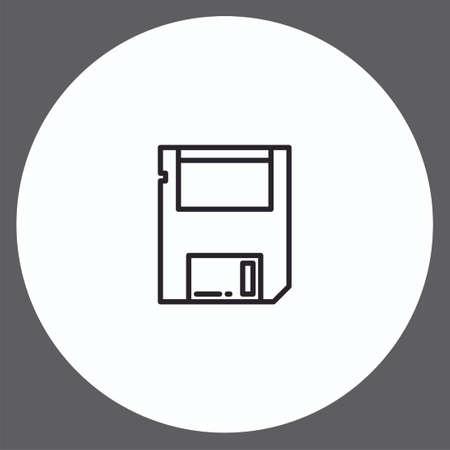 Floppy disk vector icon sign symbol Illustration