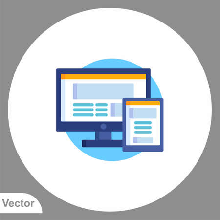 Monitor icon sign vector, Symbol illustration for web and mobile