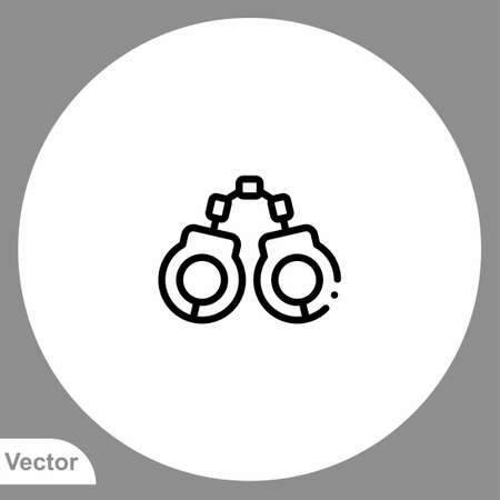Handcuffs icon sign vector, Symbol illustration for web and mobile