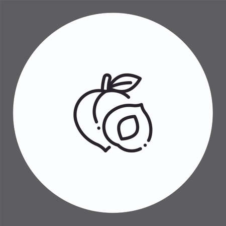 Peach vector icon sign symbol