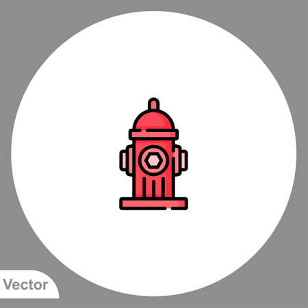 Fire hydrant icon sign vector, Symbol illustration for web and mobile Ilustracja