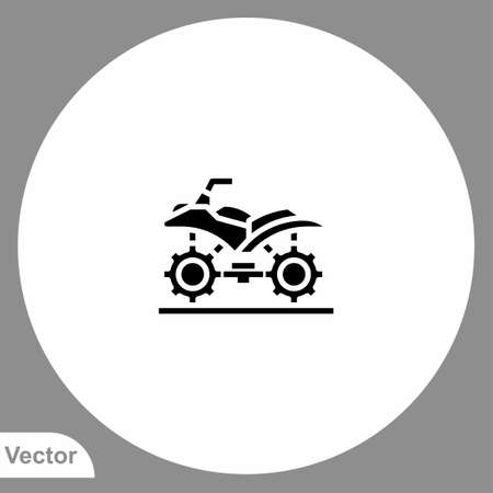 Atv icon sign vector, Symbol illustration for web and mobile