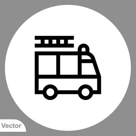 Fire truck icon sign vector, Symbol,   illustration for web and mobile