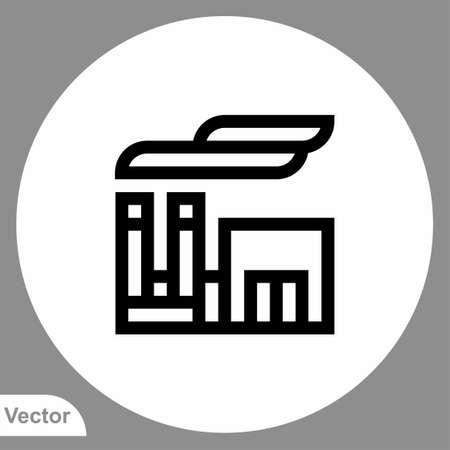 Factory vector icon sign symbol