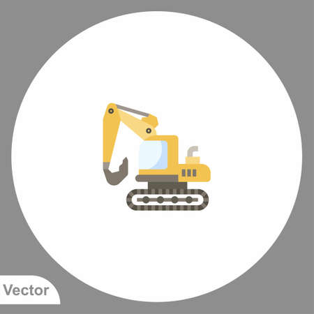 Excavator icon sign vector, Symbol, logo illustration for web and mobile Stock Illustratie