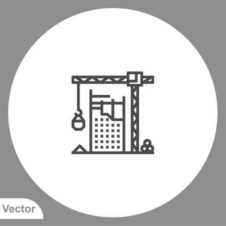 Crane icon sign vector, Symbol, logo illustration for web and mobile