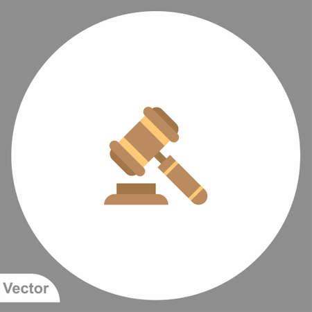 Law hammer vector icon sign symbol