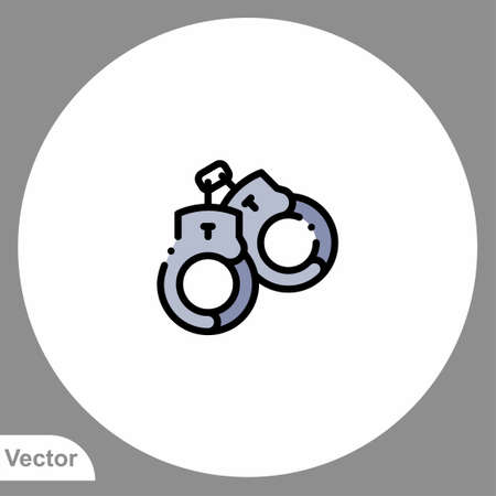Handcuffs icon sign vector, Symbol, logo illustration for web and mobile Иллюстрация