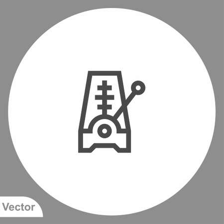 Metronome icon sign vector, Symbol, logo illustration for web and mobile Stock Illustratie