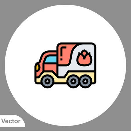 Fire truck icon sign vector, Symbol, logo illustration for web and mobile Ilustracja