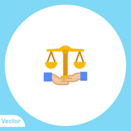 Balance scale flat vector icon sign symbol 向量圖像