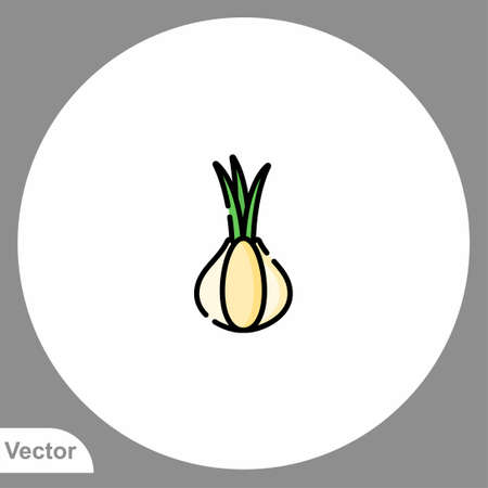 Onion icon sign vector, Symbol, logo illustration for web and mobile