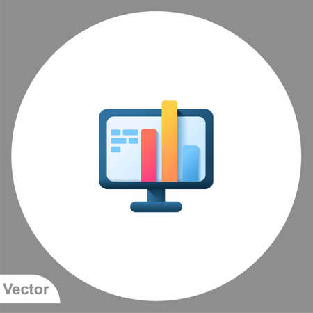 Monitor icon sign vector, Symbol, logo illustration for web and mobile