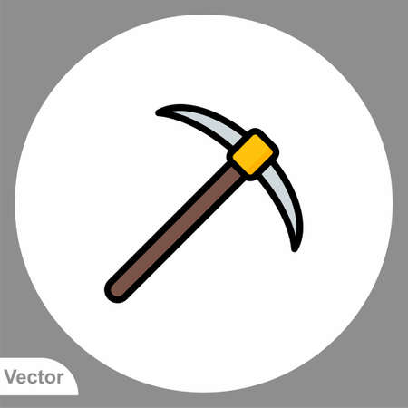 Pickaxe icon sign vector, Symbol, logo illustration for web and mobile