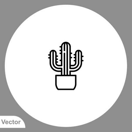 Cactus icon sign vector, Symbol, logo illustration for web and mobile