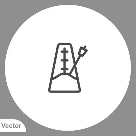 Metronome icon sign vector, Symbol,   illustration for web and mobile