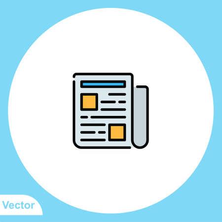 Newspaper vector icon sign symbol 向量圖像
