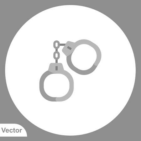 Handcuffs icon sign vector, Symbol,   illustration for web and mobile